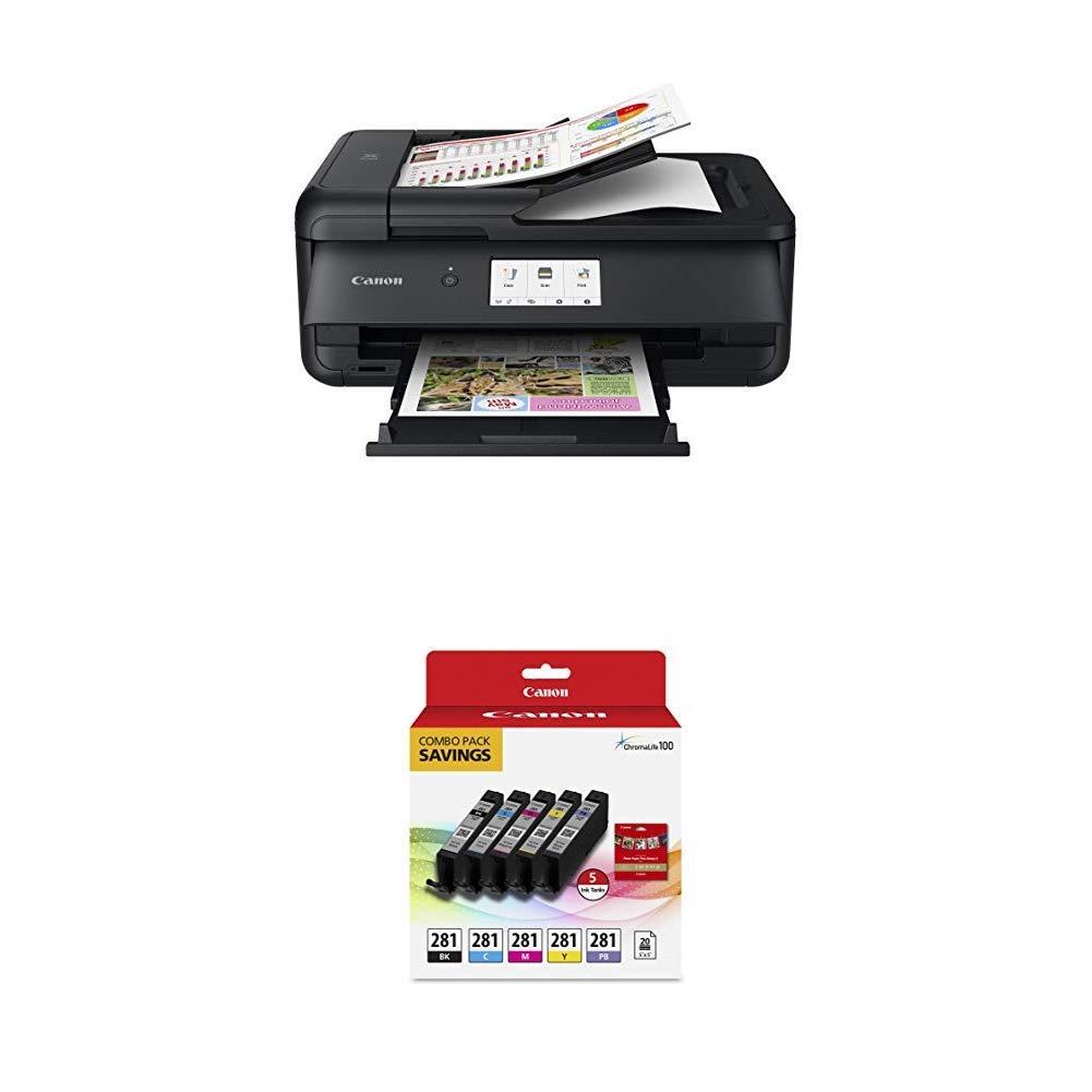 Canon TS9521C Wireless Crafting Printer, 12X12 Printing, White Canon USA Inc. 2988C022