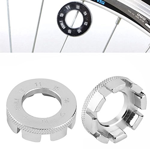 Euone  Wrench Repair, Bicycle 8 Way Spoke Nipple Key Bike Cycling Wheel Rim Spanner Wrench Repair Tool