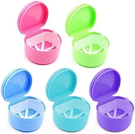 Caja de plástico para guardar dentadura de dientes falsos con colador: Amazon.es: Salud y cuidado personal