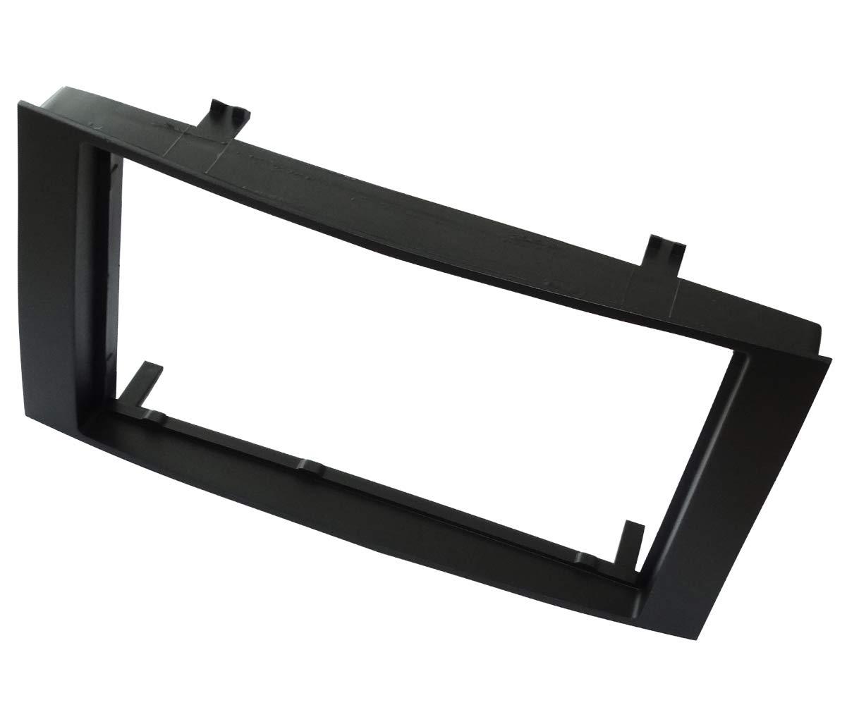 Adaptateur autoradio fa/çade Cadre r/éducteur Noir 2DIN pour Auto Voiture C40945 AERZETIX