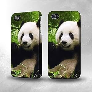 Apple iPhone 4 / 4S Case - The Best 3D Full Wrap iPhone Case - Panda Enjoy Eating