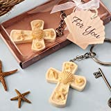 144 Beach Themed Cross Key Chains Religious Favors