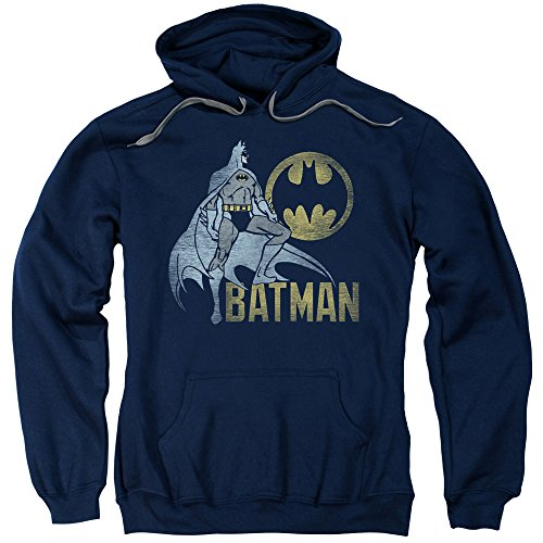 Batman DC Comics Knight Watch Vintage Style Adult Pull-Over Hoodie ()