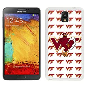 Beautiful Designed With NCAA Atlantic Coast Conference ACC Footballl Virginia Tech Hokies 1 Protective Cell Phone Hardshell Cover Case For Samsung Galaxy Note 3 N900A N900V N900P N900T White