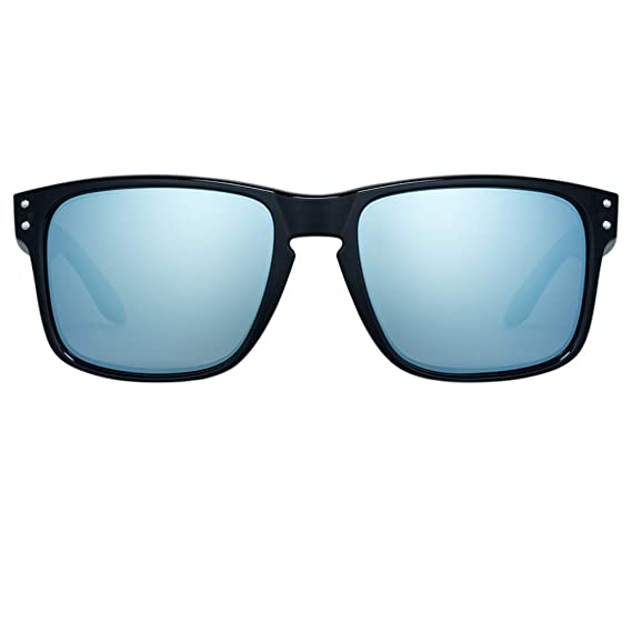 ec046c2098 B.N.U.S B.N.U.S Sunglasses Shades for men women Sliver mirrored lenses  Polarized (Frame  Black  Amazon.in  Clothing   Accessories