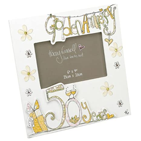 Amazon.com: Tracey Russell - 50th Wedding Anniversary Photo Frame ...