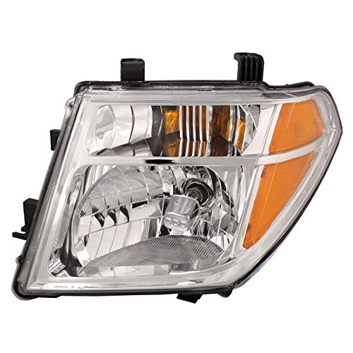HEADLIGHTSDEPOT Halogen Headlight Compatible with Nissan Frontier Pathfinder Includes Left Driver Side Headlamp ()