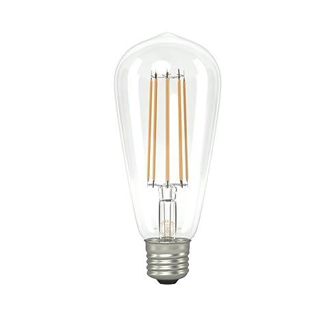 Bombilla Eddie y Sons ST64 grande con forma de pera con filamentos LED (rosca E27