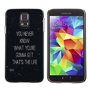 Dragon Case - FOR Samsung Galaxy S5 - it is life - Caja protectora de pl??stico duro de la cubierta Dise?¡Ào Slim Fit