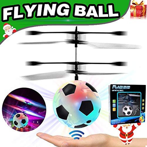 AMENON Flying Ball RC Toys for Kids, Mini Drones Hand Remote Controlled Quadcopter,Floating Hover Soccer Ball Light-Up Flying Toys RC Helicopter Boys Girls Holiday Toys Gifts Birthday Christmas
