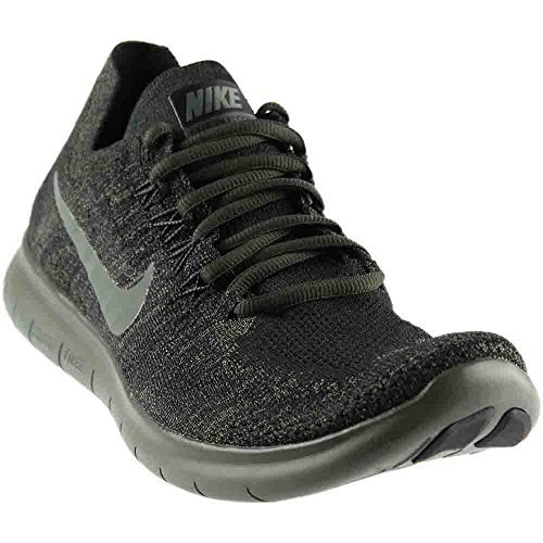 (NIKE Mens Free RN Flyknit 2017 Running Shoes Black/River Rock/Anthracite 880843-012 Size 13)