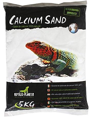 Reptiles Planet Arena de Arena de Calcio terrarios Calcio Sand Artic Blanco 5 kg