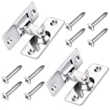 (2 pcs) Right angle door buckle buckle aluminum alloy bolt stainless steel door metal 90 degree indoor vintage latch fixed compartment toilet single sliding