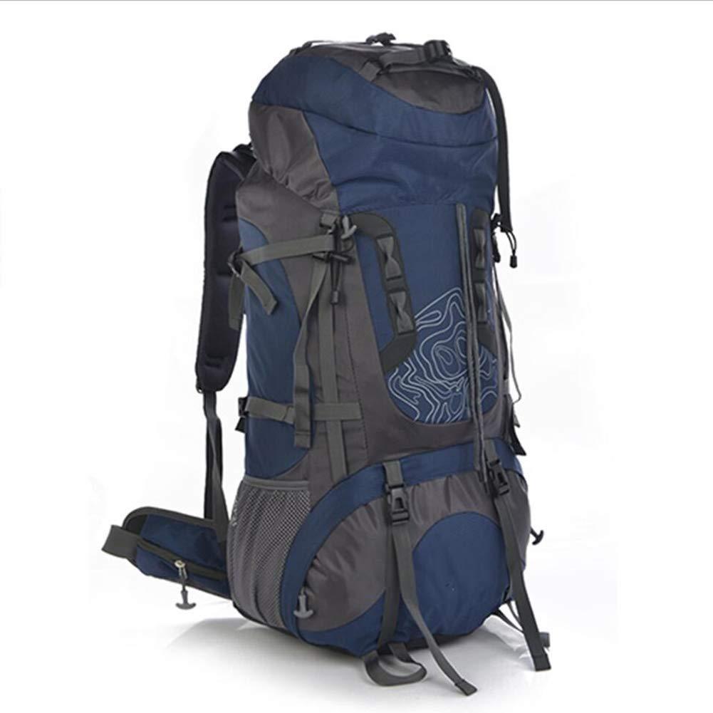 ハイキング旅行バックパックトレッキング登山キャンプ登山用リュックサック男性女性 B07PKVDZ6J Dark Blue 75L