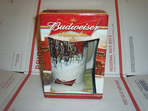 Anheuser-Busch Budweiser Holiday Stein Series - 2006 Sunset At The Stables - Clydesdales Pulling the Holiday Beer Wagon