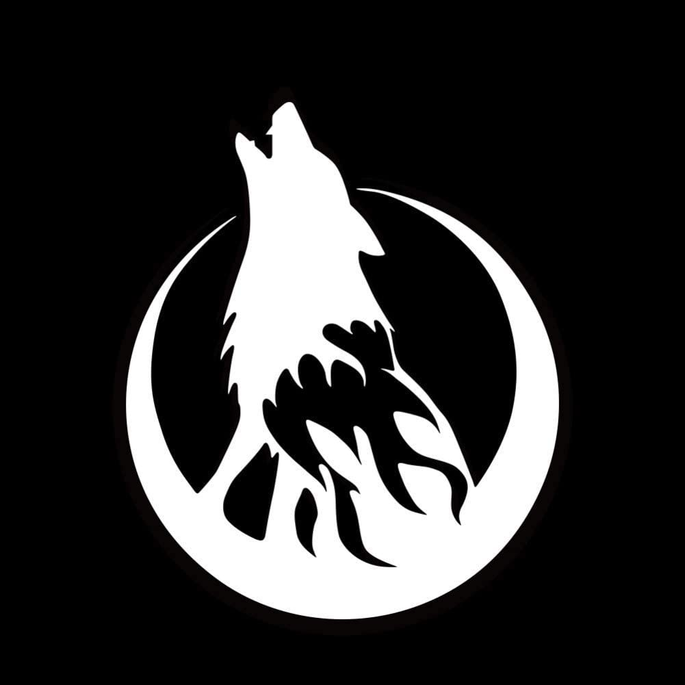 Laptop Car Truck Bumper Window Decal, Car Stickers and Decals Howling Wolf Stickers Car Bumper Stickers Car Styling Car Door Body Window Vinyl Stickers