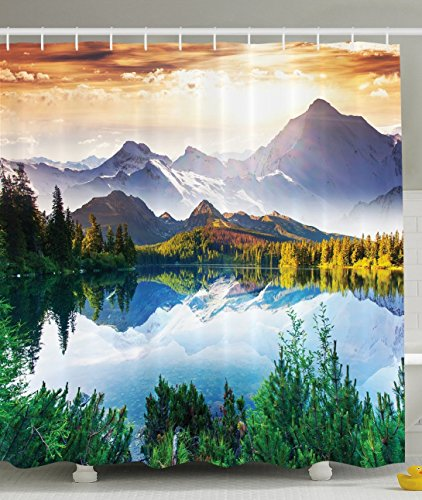 Ambesonne Collection Mountain Paintings Polyester