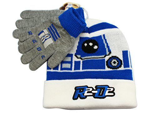 c58681a8fa5 Star Wars Little Boys  R2D2 Cuffed Beanie and Glove Set