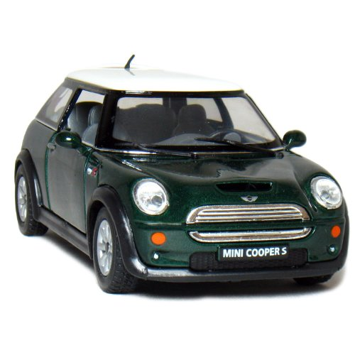 5 Mini Cooper S 1:28 Scale (Green) by Kinsmart