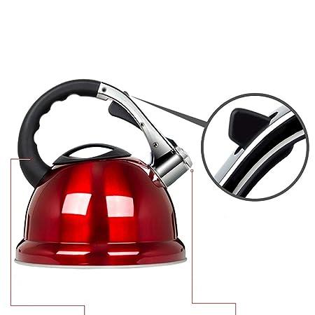 Pesca el/éctrico XYM-hervidor 3.5 litros de Acero Inoxidable hervir r/ápido para cer/ámica Gas Caldera hal/ógeno Cocina Bebida Caliente t/é Acampar hogar Silbato vitrocer/ámica