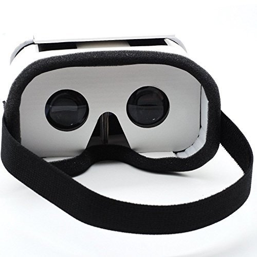 """Sunyounger SYG-RK4 DIY 2.0 Version Google Cardboard 3D Virtual Reality Glasses VR Case Box Headset Glasses Compatible with 3.5""""-5.5"""" IOS Android Smartphones For 3D Movies and Games …"""
