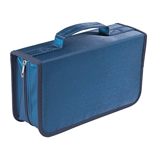 128 Capacity CD/DVD case Wallet, storage,holder,booklet by Rekukos(Blue)