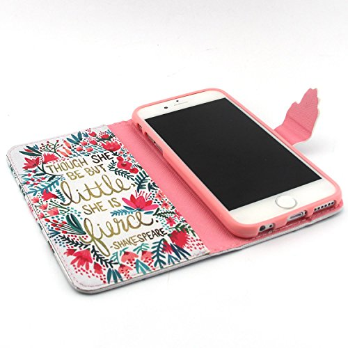 ubmsa-iphone 6(11,9cm) Étui portefeuille à rabat avec support de Crédit Porte-cartes en cuir avec clip ceinture, fermeture magnétique avec fonction de doigts Coque bumper en TPU souple, berceau, pro
