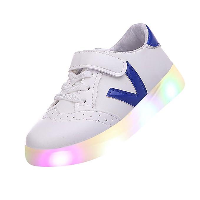 YanHoo Zapatos para niños Zapatillas Luminosas LED para Hombre y Mujer Zapatillas de Skate para niños pequeños Zapatos de bebé para niños Zapatillas de ...
