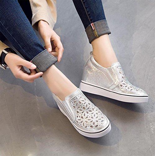 mollete zapatos pendiente 7 5 perezosos CN37 UK4 con del de zapatos EU37 casuales elevador 5 US6 Spring diamante los Ms 5 zapatos zapatos wqXgYXd