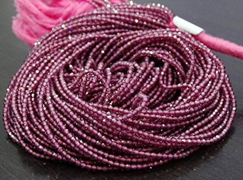 Full 13 Inch X 10 Strand AAA ++ Quality RHODOLITE Garnet Gemstone Machine Cut Faceted Rondelle Beads.