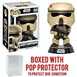 star wars imperial chewbacca - Funko Pop! Star Wars: Rogue One - Scarif Shoretrooper #145 Vinyl Figure (Bundled with Pop BOX PROTECTOR CASE)