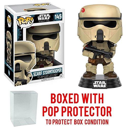 Funko Pop  Star Wars  Rogue One   Scarif Shoretrooper  145 Vinyl Figure  Bundled With Pop Box Protector Case