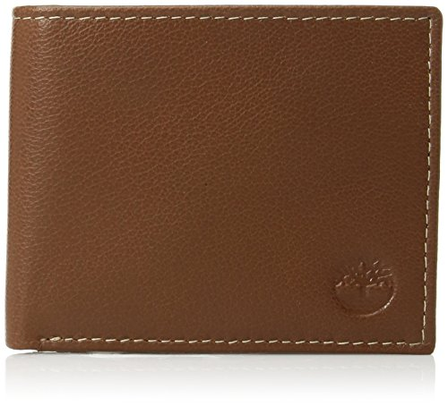 (Timberland Men's Leather Wallet with Attached Flip Pocket, Tan (Blix), One Size)