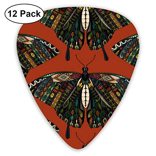- Swallowtail Butterfly Terracotta Small Medium Large 0.46 0.73 0.96mm Mini Flex Assortment Plastic Top Classic Rock Electric Acoustic Guitar Pick Accessories Variety Pack