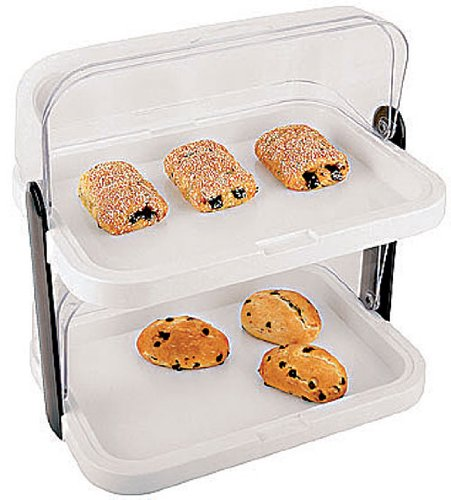 Paderno World Cuisine 2-Tier Cold Food Display Set with Covers