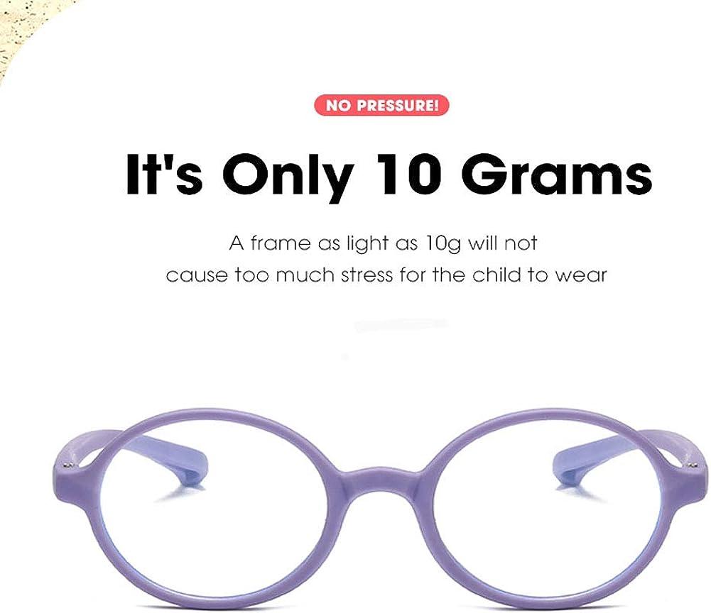 Kids Blue Light Blocking Computer Glasses Anti Eyestrain UV Frame Eyewear Non Prescription Lens Age LHSDMOAT Lunettes Ordinateur Anti Lumi/ère Bleue Enfant B/éb/é Gar/çon et Fille
