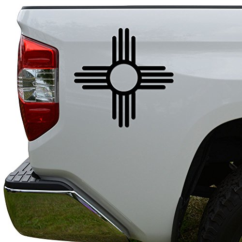Sun Die Cut Vinyl Decal Sticker For Car Truck Motorcycle Window Bumper Wall Decor Size- [6 inch/15 cm] Tall Color- Matte Black (Sun Vinyl Window Decal Bumper)