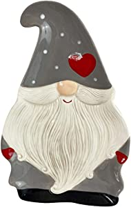 NUOBESTY Christmas Ceramic Plate Gnome Santa Serving Trays Dish Tray Cookie Food Plate Snack Platter for Xmas Holiday Home Dining Table Decoration