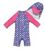 Baby Girls Toddler Swimsuit UPF 50+ Short Sleeve