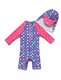 5e222392f4 Baby/Toddler Girl One Piece Swimsuit with UPF 50+ Sun Protection