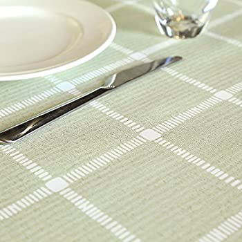 LEEVAN Heavy Weight Vinyl Rectangle Table Cover Wipe Clean PVC Tablecloth  Oil Proof/Waterproof