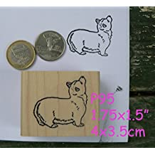 P95 Welsh Corgi dog rubber stamp