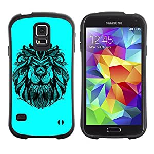 Hybrid Anti-Shock Bumper Case for Samsung Galaxy S5 / Majestic Lion