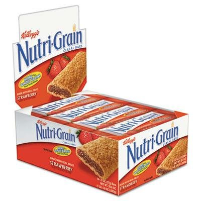 """Kellogg's - 2 Pack - Nutri-Grain Cereal Bars Strawberry Indv Wrapped 1.3Oz Bar 16/Box """"Product Category: Breakroom And Janitorial/Beverages & Snack Foods"""""""