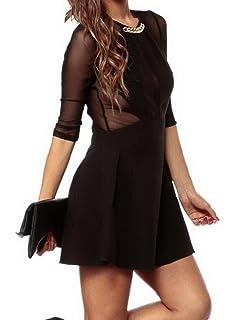 ce88008ceb683 (ラボーグ)La Vogue ボディコン レディース ワンピースドレス キャバ 二次会 タイト着痩せ 七分袖