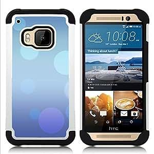 - abstract blue purple bubbles pastel/ H??brido 3in1 Deluxe Impreso duro Soft Alto Impacto caja de la armadura Defender - SHIMIN CAO - For HTC ONE M9