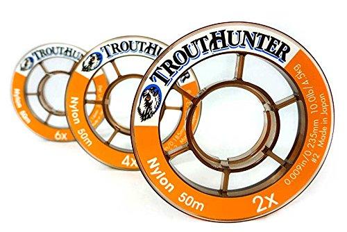 Trouthunter Nylon Tippet, 3 Pack, 0X, 1X, 2X