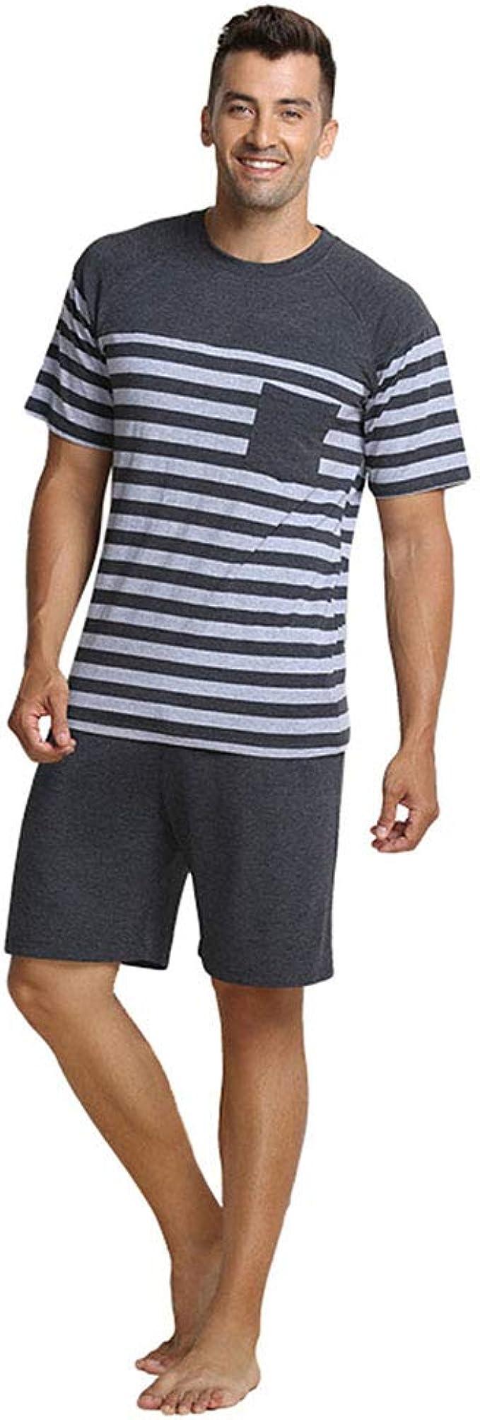 QianXiu Verano Conjunto de Ropa de Dormir Pijamas para Hombre Ropa ...