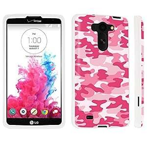 DuroCase ? LG G Vista VS880 / D631 Hard Case White - (Baby Pink Camo)