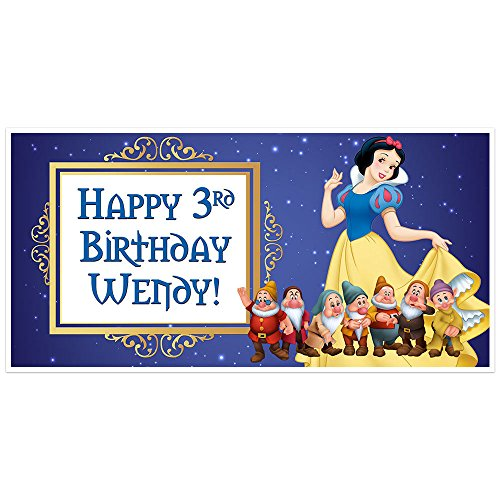 Snow White Personalized Birthday Banner Party Decoration Backdrop